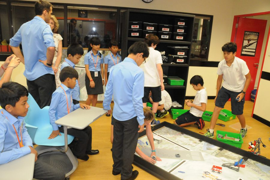 We had practice with SAS students about robotic